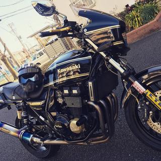 カワサキ(カワサキ)の2007年式 ZRX400 黒金 走行距離4000程(車体)
