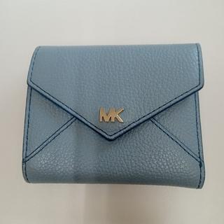 マイケルコース(Michael Kors)の極美品 希少色 MICHAEL KORS 二つ折り財布 水色(財布)