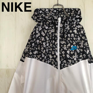 NIKE - NIKE ナイキ ナイロンジャケット 花柄 パーカー レディース M