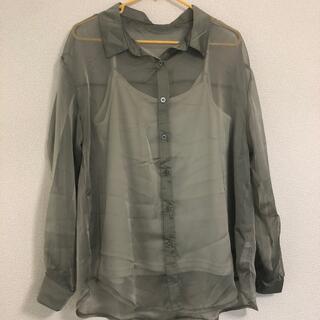 GRL - GRL キャミ付きシアーシャツ