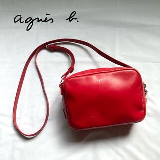 agnes b. - 【美品】高級感 アニエスベー ショルダーバッグ レザー レッド 赤 ポシェット