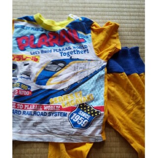 タカラトミー(Takara Tomy)の90 プラレール パジャマ 上下 オレンジ(パジャマ)