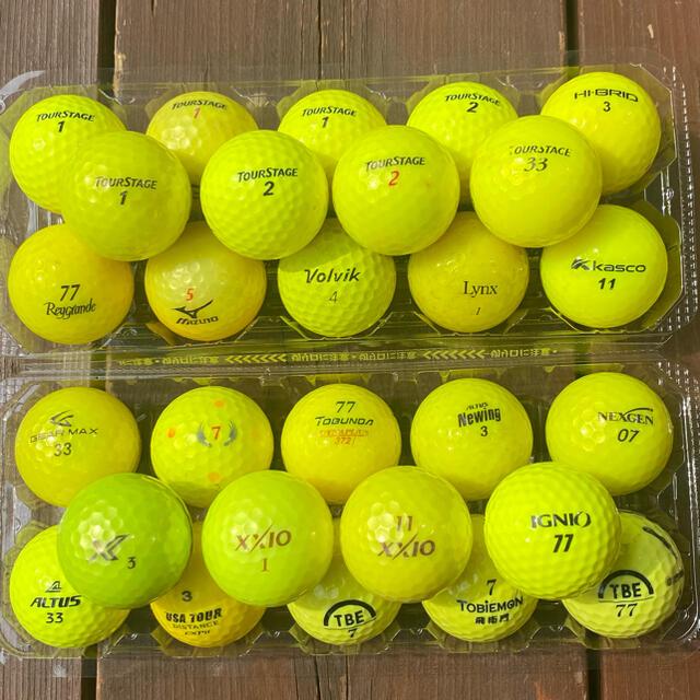 ゴルフボール GOLF ロストボール 黄色 イエロー 28個セット スポーツ/アウトドアのゴルフ(その他)の商品写真