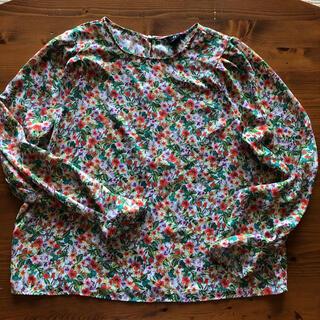エイチアンドエム(H&M)のほぼ新品!H&M 綺麗な花柄長袖ブラウス 袖がキュート サイズXL(シャツ/ブラウス(長袖/七分))