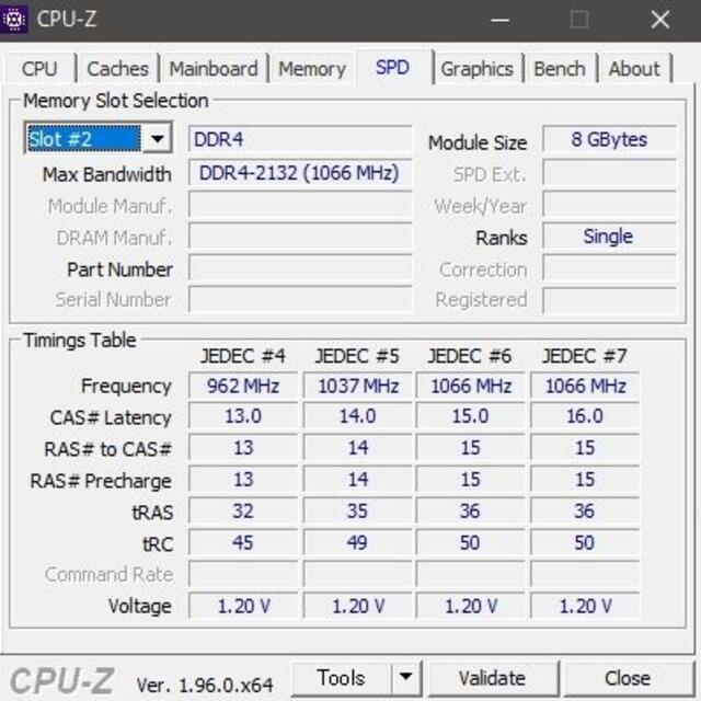 メモリ UMAX 16GB (8GBx2) DDR4-2133 ''47 スマホ/家電/カメラのPC/タブレット(PCパーツ)の商品写真