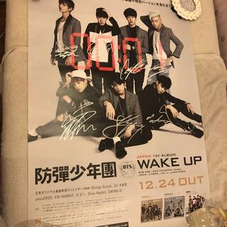防弾少年団(BTS) - BTS WAKE UP 直筆サイン入りポスター