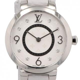 ルイヴィトン(LOUIS VUITTON)のルイ・ヴィトン タンブールスリム 8Pダイヤ Q12MG  レディース 【中古】(腕時計)