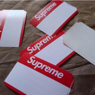 supreme  name badge sticker 赤色 ネームバッジ 5枚