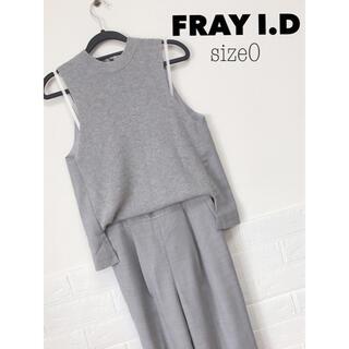 フレイアイディー(FRAY I.D)のFRAY I.D ニットコンビコンビネゾン(オールインワン)