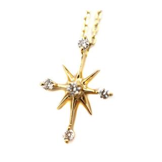 STAR JEWELRY - スタージュエリー  K18 クロスネックレス ダイヤモンド