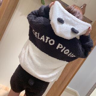 gelato pique - 新品☆パンダモコパーカー&ショートパンツセット