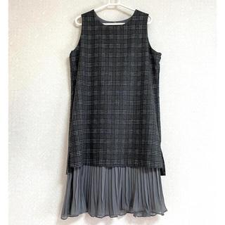 ⦅新品⦆ チェック ジャンパースカート ワンピース