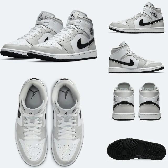NIKE(ナイキ)の極希少□NIKE WMNS AIR JORDAN 1 MID GREY FOG レディースの靴/シューズ(スニーカー)の商品写真