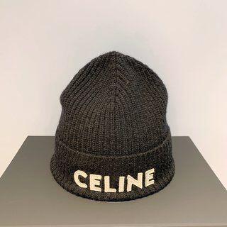 セリーヌ(celine)のCelineセリーヌのヘアライン帽 黑(ニット帽/ビーニー)