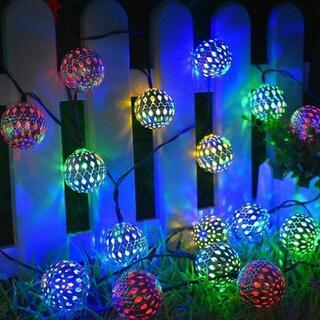 屋外のソーラーストリングライト LEDイルミネーションライト 8種の点灯モード