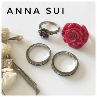 アナスイ(ANNA SUI)の【ANNA SUI】アナスイ リング 4点セット薔薇 バラ 他(リング(指輪))