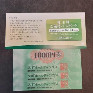 スギ薬局 3000円 + パスポート