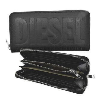 ディーゼル(DIESEL)の新品未使用 DIESEL ラウンドファスナー財布 PVC ブラック(長財布)