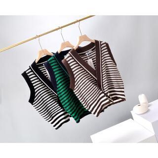 マウジー(moussy)のmoussyニットベストw3(Tシャツ(半袖/袖なし))