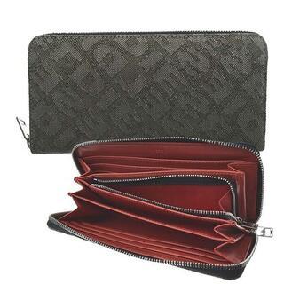 ディーゼル(DIESEL)の新品未使用 DIESEL ラウンドファスナー財布 デニム GREY/RED(長財布)