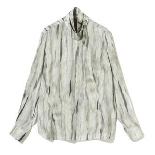 SUNSEA - 21AW MASU - fur print silk shirts white