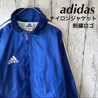 adidas - adidas アディダス ナイロンジャケット 刺繍ロゴ フード着脱 ストライプ