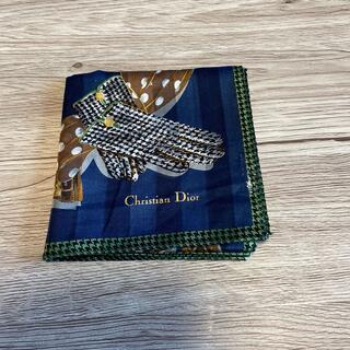 クリスチャンディオール(Christian Dior)のクリスチャンディオールハンカチネイビー(ハンカチ)