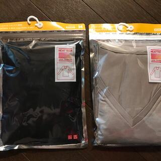 ユニクロ(UNIQLO)のユニクロ ヒートテック Vネック 長袖 2枚セット(アンダーシャツ/防寒インナー)
