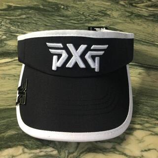 ゴルフPXGサンバイザー ゴルフボールマーカー付き帽子(黒)