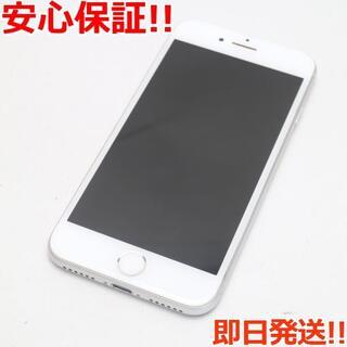 アイフォーン(iPhone)の超美品 au iPhone8 64GB シルバー (スマートフォン本体)