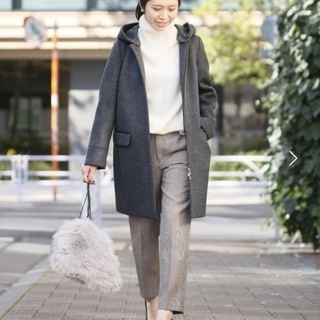 イエナ(IENA)のIENA 二重織りシャルムフードコクーンコート サイズ40(ロングコート)