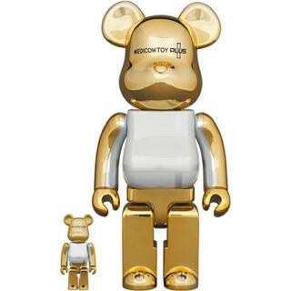 BE@BRICK GOLD CHROME Ver. 100% &400%(フィギュア)