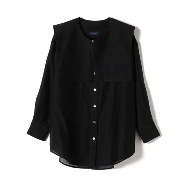 SHIPS for women(シップスフォーウィメン)の【新品タグ付】SHIPS for women シアーアタッチドカラーシャツ レディースのトップス(シャツ/ブラウス(半袖/袖なし))の商品写真