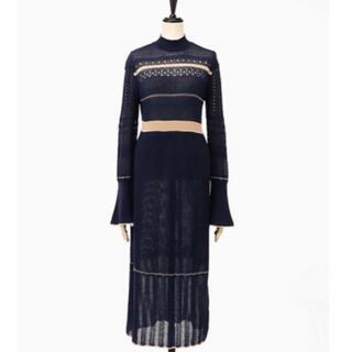 mame - mame NOSTALGIC PATTERN KNIT DRESS