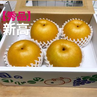 【秀品】梨 新高梨 ナシ 2.5〜3kg 4、5玉 朝倉 高木梨(フルーツ)