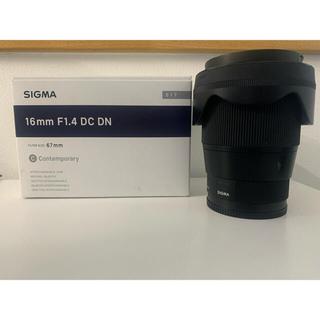 SIGMA - SIGMA 16mm F1.4 DC DN ソニーEマウント用