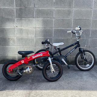 ルイガノ(LOUIS GARNEAU)の手渡し限定 ルイガノ 16インチ ブラック & へんしんバイク レッド セット(自転車)