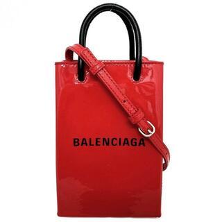 バレンシアガ(Balenciaga)のバレンシアガ フォンフォルダー レッド ブラック 革(ショルダーバッグ)
