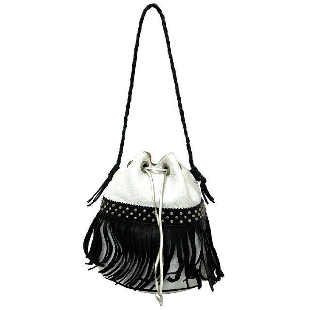 J&M DAVIDSON(ジェイアンドエムデヴィッドソン)のジェイアンドエム デヴィッドソン 巾着 ホワイト 鞄 レディースのバッグ(ショルダーバッグ)の商品写真
