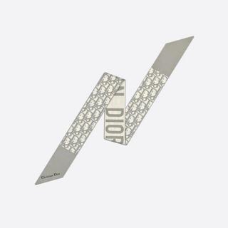 ディオール(Dior)のdior ミッツァスカーフ オブリーク グレー(バンダナ/スカーフ)