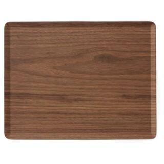 送料無料 シンプルなラインが美しい木製トレイ