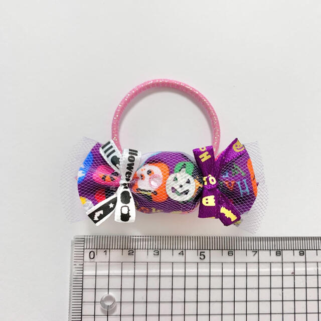 残り16セット☆キャンディ ハロウィン ヘアゴム ハンドメイドのアクセサリー(ヘアアクセサリー)の商品写真