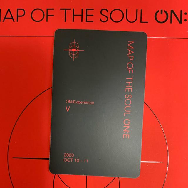 防弾少年団(BTS)(ボウダンショウネンダン)のBTS MAP OF THE SOUL ON:E DVD トレカ V テテ エンタメ/ホビーのタレントグッズ(アイドルグッズ)の商品写真