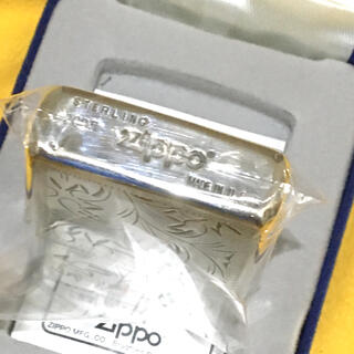 ZIPPO - ZIPPO STERLING SILVER 純銀手彫りベネチアン 両面仕様