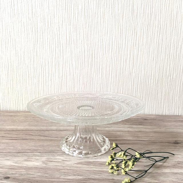 ガラスカット ケーキスタンド エンタメ/ホビーの美術品/アンティーク(ガラス)の商品写真