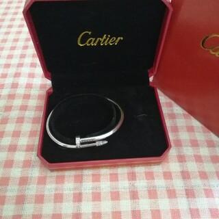 Cartier - ステキ高品質★カルティエ☆ ブレスレット/ シルバー★Au750 ##17釘
