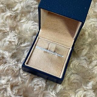 オシャレ☺️✨ K18WG ダイヤモンド デザインリング 12号