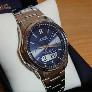 CASIO - CASIO ウェーブセプター 電波ソーラー メンズ  腕時計