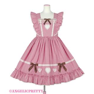 Angelic Pretty - Petit Gingham Heartジャンパースカート