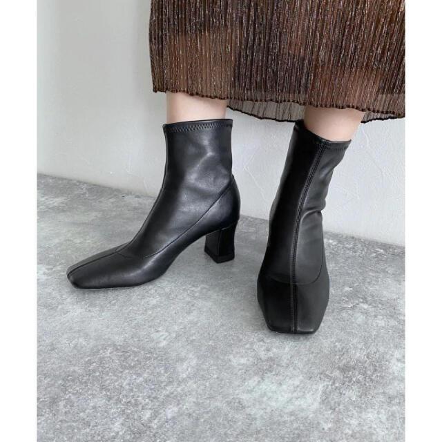 JEANASIS(ジーナシス)のジーナシス ストレッチショートブーツ 黒 レディースの靴/シューズ(ブーツ)の商品写真